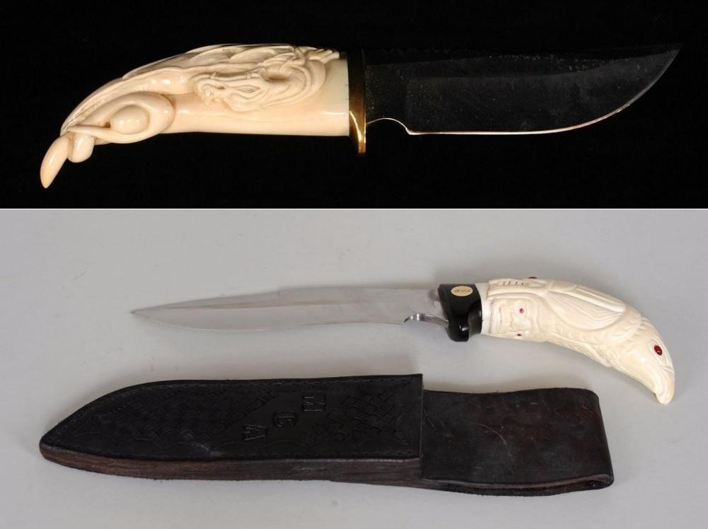 ножи с костяной декоративной ручкой